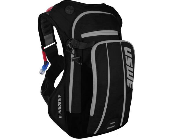 USWE Airborne 9 Hydration Backpack, black/grey